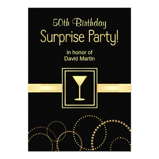 Custom 50th Birthday Surprise Party Invitations