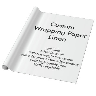 Custom 6' Linen Wrapping Paper Roll