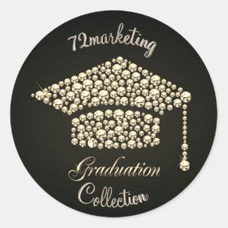 Custom 72marketing Graduation Sticker Diamond