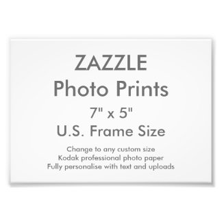 "Custom 7"" x 5"" Photo Print (US Frame Size)"