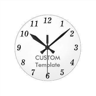 """Custom 8"""" ROUND Wall Clock CENTURY ITA."""
