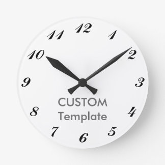 """Custom 8"""" ROUND Wall Clock COMMERCIAL"""