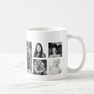 Custom 9 Instagram Photo Collage Classic White Coffee Mug