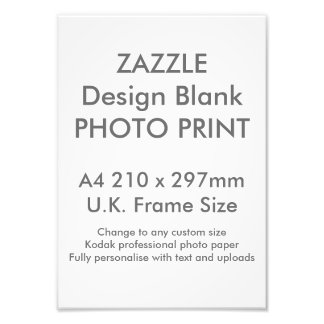 Custom A4 Photo Print  UK Frame Size