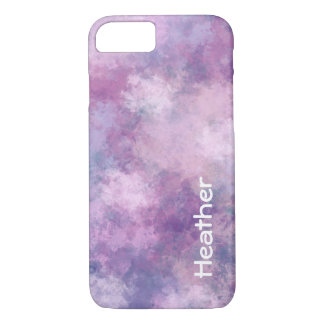 Custom Abstract Blue, Lilac, Pink iPhone 8/7 Case