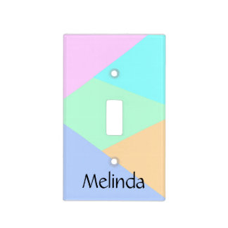 Custom, Abstract colorful pattern Light Switch Cover