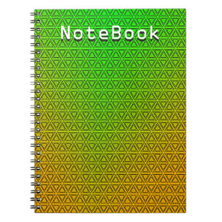 Custom Abstract Green to Yellow NoteBook