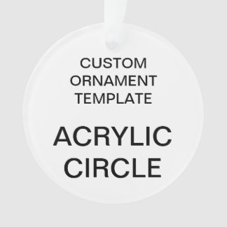 Custom Acrylic ROUND Christmas Ornament Template