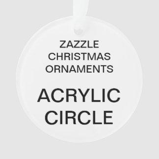 Custom Acrylic ROUND Christmas Tree Ornament