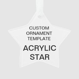 Custom Acrylic STAR Christmas Ornament Template
