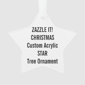 Custom Acrylic STAR Christmas Tree Ornament Blank