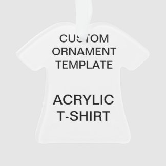 Custom Acrylic T-SHIRT Christmas Ornament Template