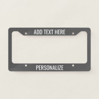 Custom Add 2 Lines Text & Change Background Colour License Plate Frame