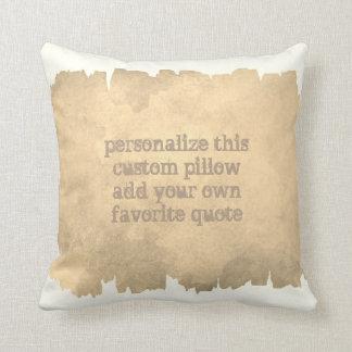 custom add a quote accent pillow watercolor design