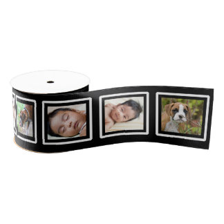Custom Add Your Own Photos Film Frame Photo Ribbon Grosgrain Ribbon