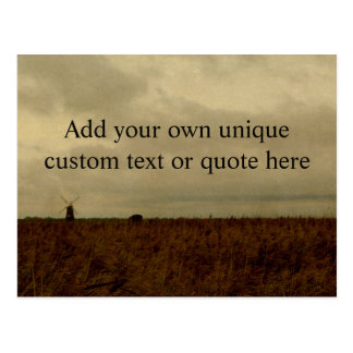 Custom 'Add your own text/quote' English Landscape Postcard