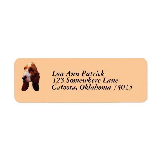 Custom Address Labels - Bassett Hound