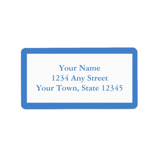 Custom Address Labels - Medium Blue