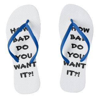 Custom Adult, Slim Strap Flip Flops