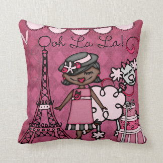 Custom African American  Paris Diva Pillow