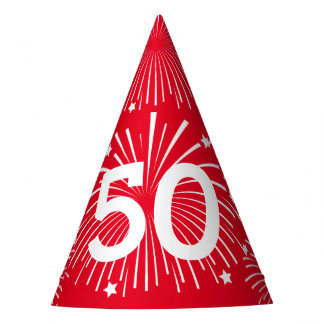 Custom age surprise Birthday party paper cone hats