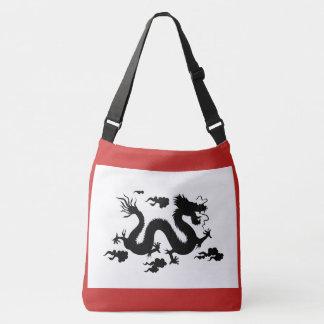 Custom All-Over-Print Cross Body Bag with Dragon