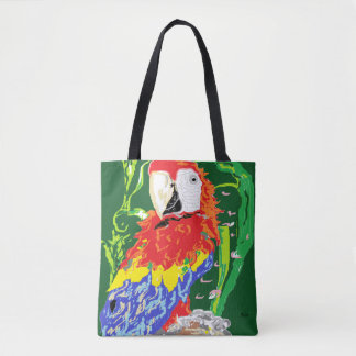 Custom All-Over-Print Tote Bag/A Parrot