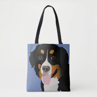 Custom All-Over-Print Tote Bag Bernese mountain