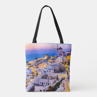 Custom All-Over-Print Tote Bag Oia