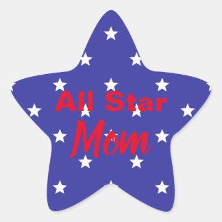Custom All Star Mom Star Sticker