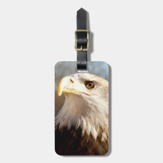 Custom American Bald Eagle Profile Luggage Tag