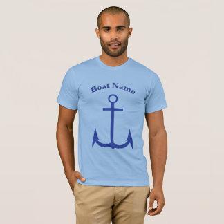 Custom Anchor Blue American Apparel T-Shirt