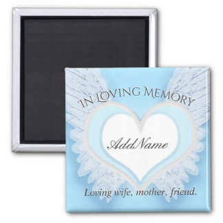 Custom Angel Wings and Heart  Memorial Magnet