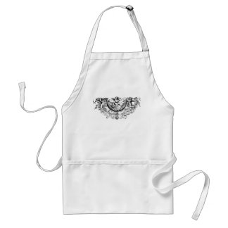Custom angel wings cherub fleur di lis print standard apron