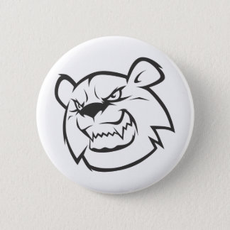 Custom Angry Bear Outline Logo 2 Inch Round Button