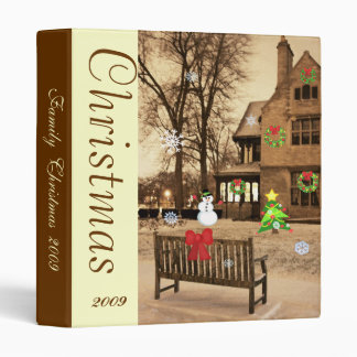 Custom Animated Christmas Manor Photo Binder