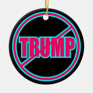 Custom Anti Trump No Trump Democratic Round Ceramic Ornament