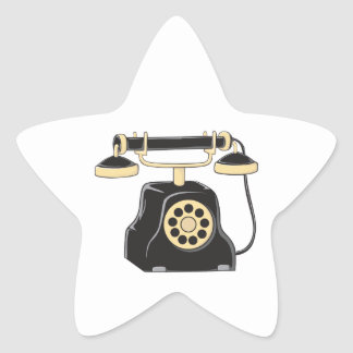 Custom Antique Rotary Dial Telephone Collector Mug Star Stickers