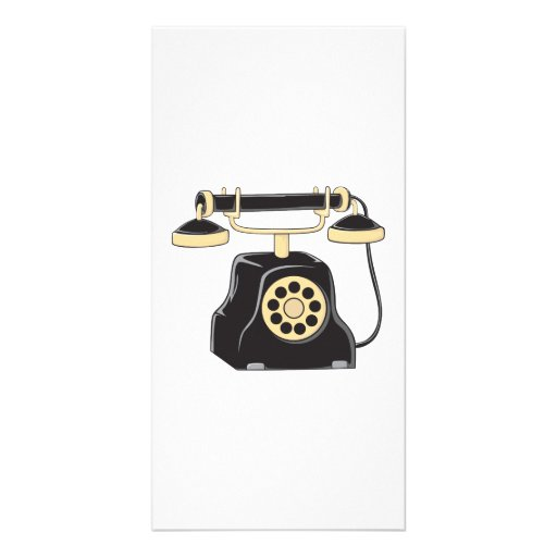 Custom Antique Rotary Dial Telephone Collector Pin Photo Cards