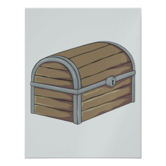 "Custom Antique Wooden Pirate Treasure Chest 4.25"" X 5.5"" Invitation Card"