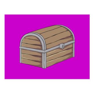 Custom Antique Wooden Pirate Treasure Chest Post Cards
