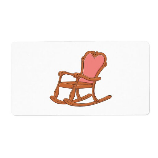 Custom Antique Wooden Rocking Chair Greeting Cards Shipping Label