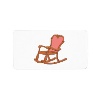 Custom Antique Wooden Rocking Chair Mugs Buttons Address Label