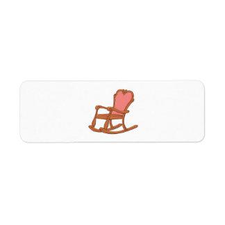 Custom Antique Wooden Rocking Chair Mugs Buttons Return Address Label