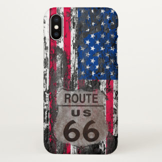 Custom Apple iPhone X Glossy Case - USA Route 66