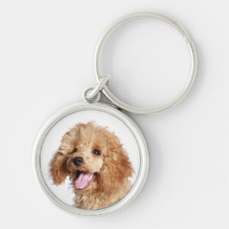 Custom Apricot Poodle Puppy Dog Love Key Chain