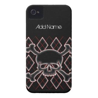 Custom Argyle Skull Blackberry Cases
