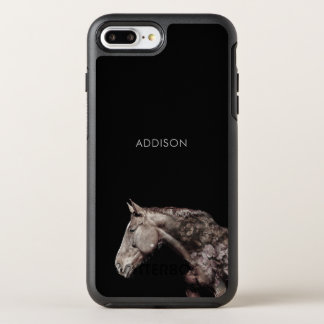 Custom Artist Horse Roses Double Exposure Portrait OtterBox Symmetry iPhone 8 Plus/7 Plus Case