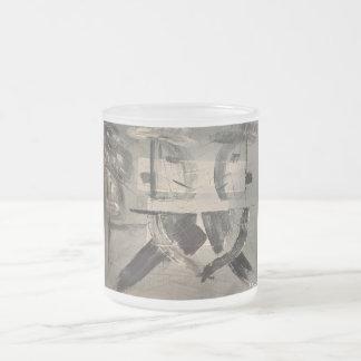 Custom/Artsy Frosted Glass Mug 10 0z
