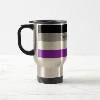 Custom Asexual Pride Flag Travel Mug